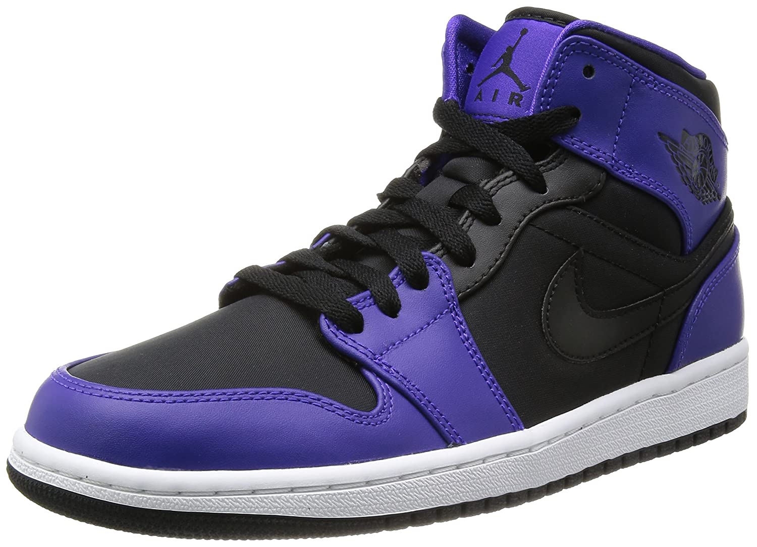 Amazon.com | Nike Air Jordan 1 Mid Black/Dark Concord Men's Basketball  Shoes Size 10 | Basketball