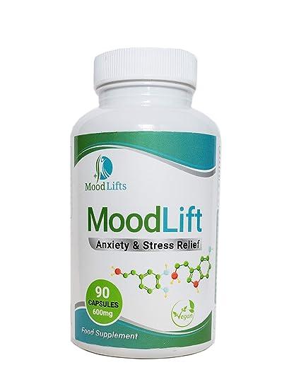 MoodLift - Alivio de la ansiedad y el estrés | 90 cápsulas veganas ...