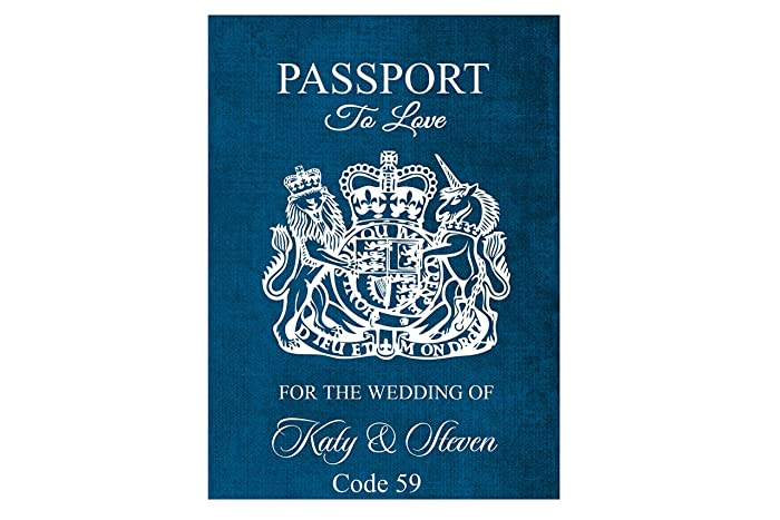 Personalised 8 Page Passport Style Wedding Invitations Amazon Co