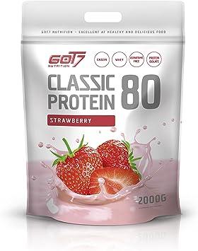 Got7 Nutrition Clásica Proteína 80 Batido, Fresa 2000 g ...