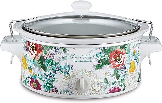 The Pioneer Woman 6 Quart Portable Slow Cooker Flea Market Crock Pot Floral NEW
