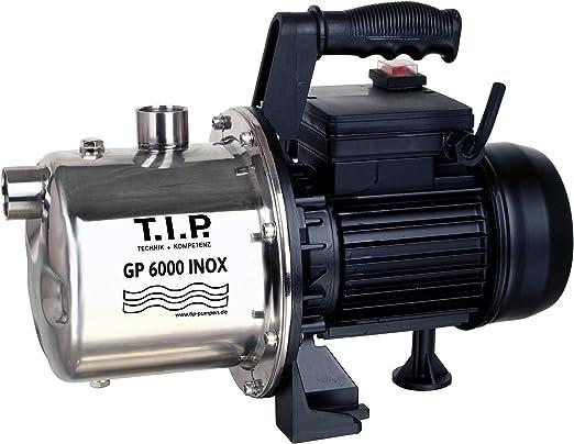 T.I.P. 31373 Bomba de jardín de acero inoxidable GP 6000 INOX, hasta 6000 l/h caudal: Amazon.es: Jardín