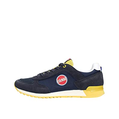 Colmar TRACOL Navy Yellow Blu Giallo Scarpe Sneakers Uomo Lacci