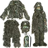 Yaheetech 3D Camouflage Camo Ghillie Suit , 4-Piece, XL/XXL