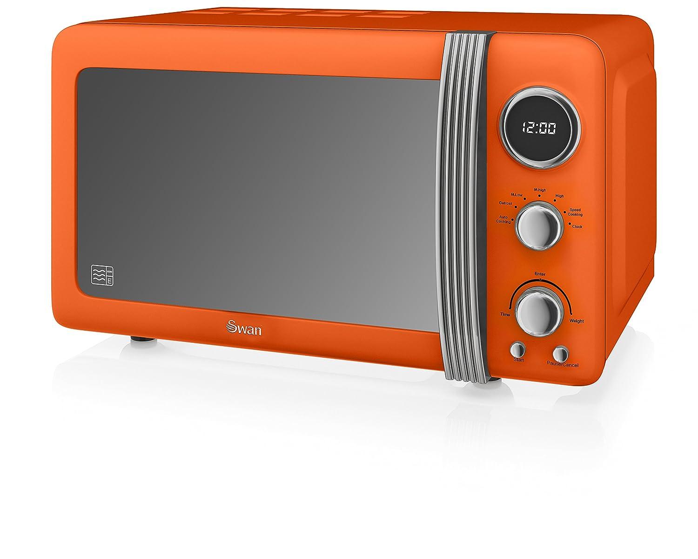 Swan SM22030BN Retro Digital Microwave, 800 W, Black