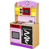 TecTake Kinderküche Spielküche aus Holz - diverse Modelle - (Lila)