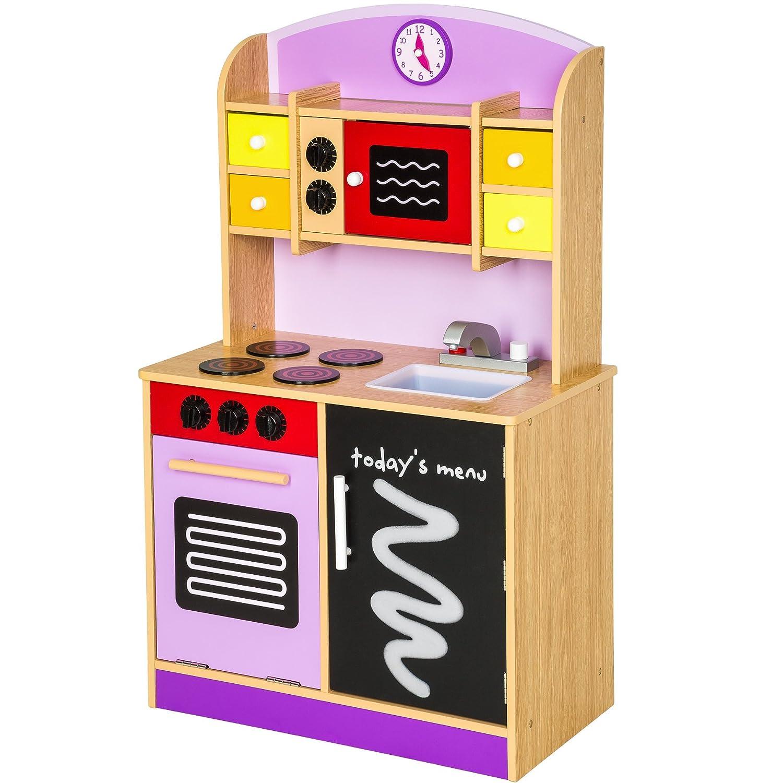 TecTake Cocina de madera de juguete para niños juguete juego de rol toy - varios modelos - (púrpura | no. 401236): Amazon.es: Juguetes y juegos
