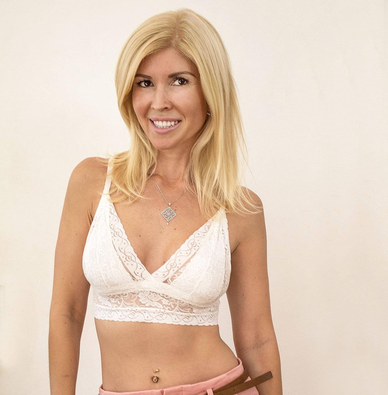 b43401eaa7dd1 Amazon.com  White Lace Bralette. White Bralette. Wireless Bra Top. Bridal  Lingerie.  Handmade