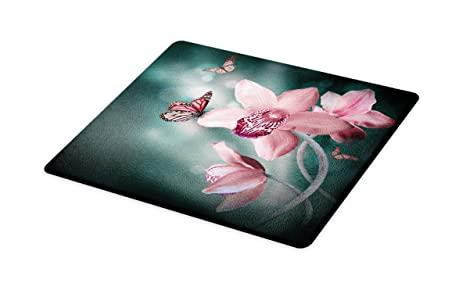 Amazon Com Ambesonne Floral Cutting Board Orchid Flower With