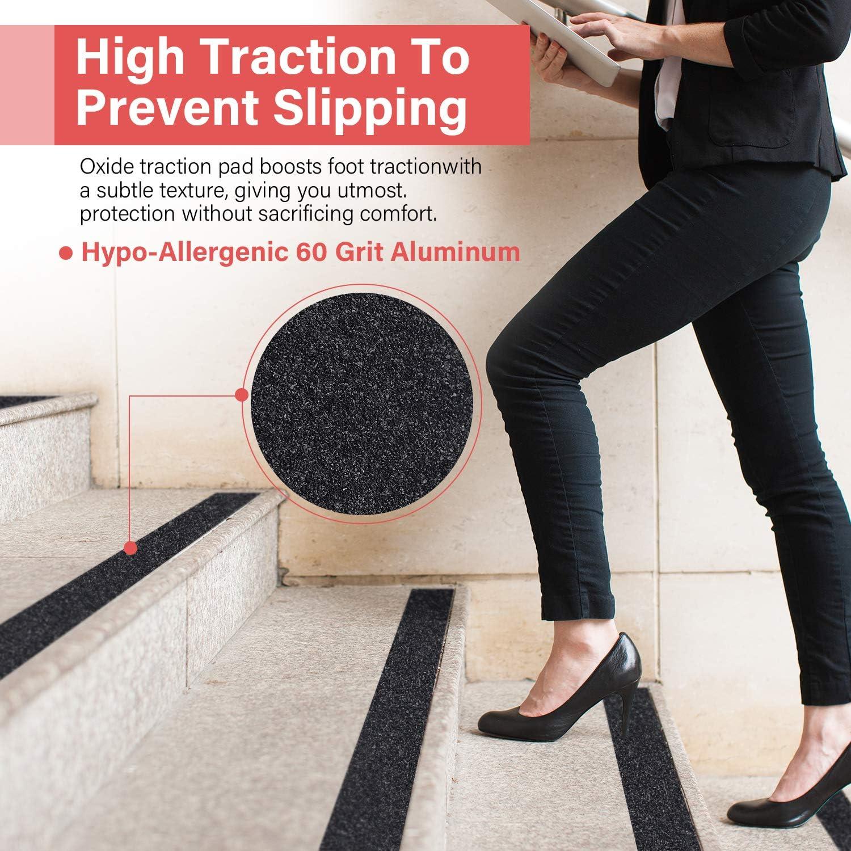 de alta tracci/ón cinta antideslizante escal/ón de rodadura fricci/ón adhesivo abrasivo para escaleras exterior, 10 cm x 5 m interior seguridad no deja residuos adhesivos f/áciles mejor agarre