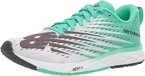 New Balance Women's 1500v5 Running Shoe, white/neon emerald ...