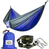 Apriller 2 person hammock Camping Hammock/Portable Hammock/Lightweight Nylon Portable Hammock/Best Parachute Double Hammock for Light Travel,Camping,Hiking,Backpacking,Mats,Carpet