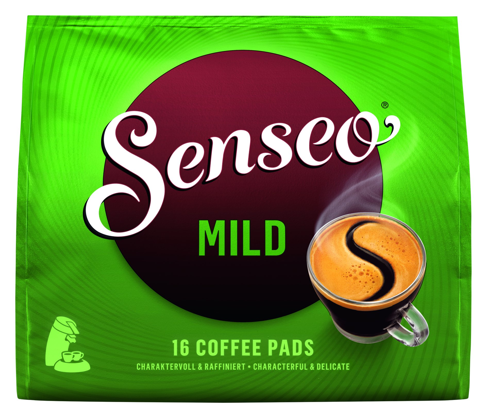 SENSEO MILD Light Roast Coffee Pods, 16 Count (Pack of 10), Ground
