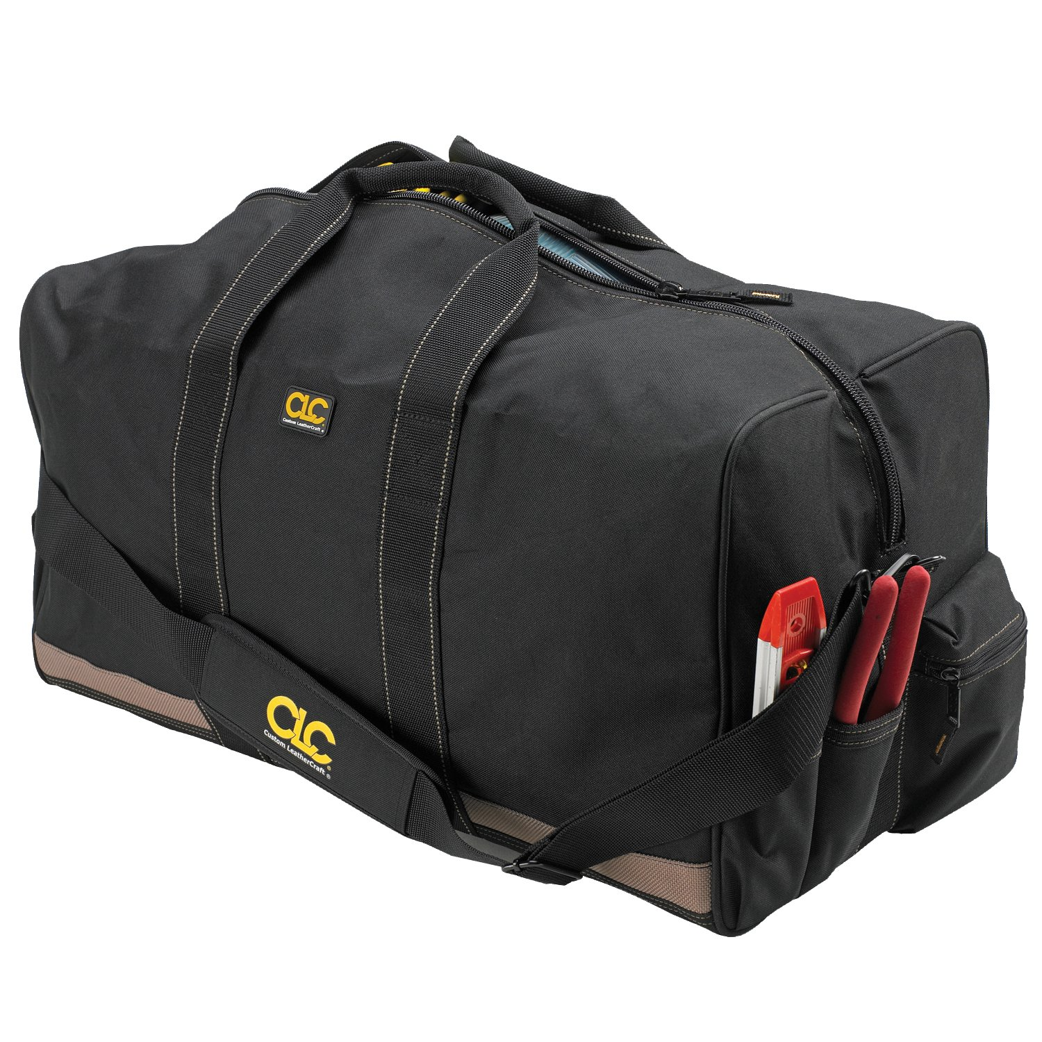 CLC Custom Leathercraft 1111 24 All Purpose Construction Gear Bag with Outside Pockets