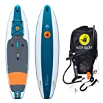 Body Glove Mariner Inflatable Stand-Up Paddleboard, Emerald/Orange,11'