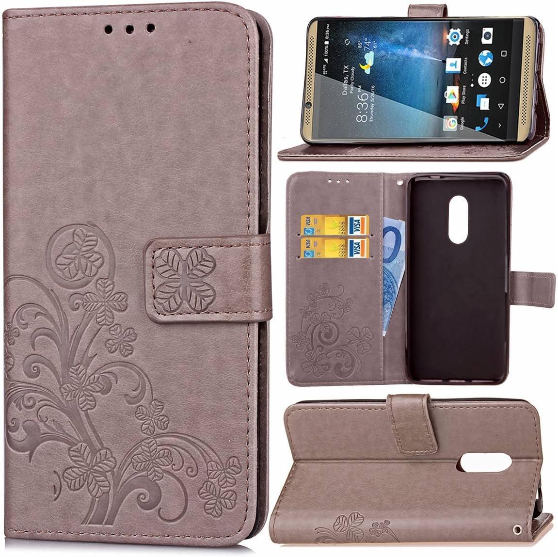 Guran Funda de Cuero PU para ZTE Axon 7 Smartphone Función de ...