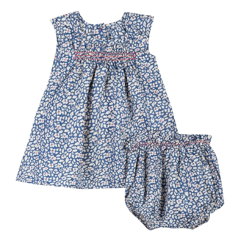 85e30ba027441 Absorba Robe Robe Bébé Fille Bleu (Indigo) 9-12 Mois (Taille Fabricant  9M)  Lot de  Amazon.fr  Vêtements et accessoires