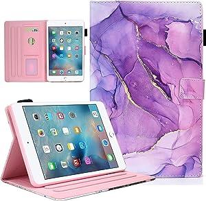 iPad 8th/7th Generation Case, iPad Air 3 Case, iPad Pro 10.5 Case, Leather Stand Folio Protective Case Cover with Auto Wake Sleep for iPad 10.2 2020 2019/iPad Air 2019/iPad Pro 10.5 -Purple Marble
