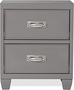 Hillsdale Furniture Lyndon Lane 2-Drawer Wood Nightstand Gray