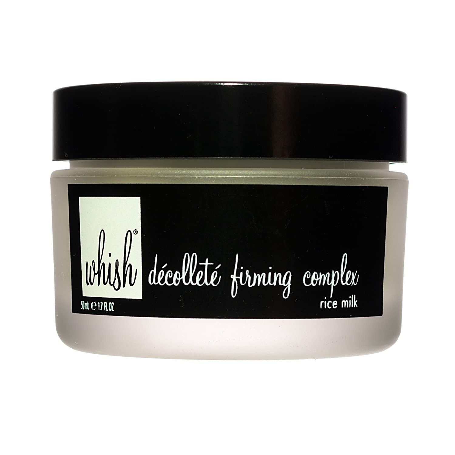 Whish - Rice Milk Decollete & Neck Firming Complex - Smoother Look & Feel - Intense Firming Boost - Reduces the Appearance of Fine Lines & Wrinkles - Vitamin C - Intense Hydration - 1.7 oz jar rmdfc1101