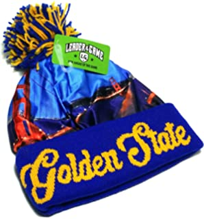 017c0ee2258 Leader of the Game Golden State LOG New Skyline Beanie Toque Pom Warriors  Colors Blue Cuffed