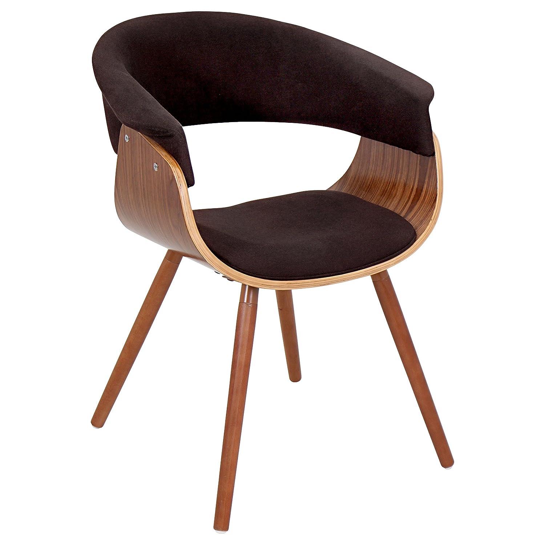 LumiSource Walnut-Espresso Vintage Mod Accent Chair CHR-JY-VMO-WL