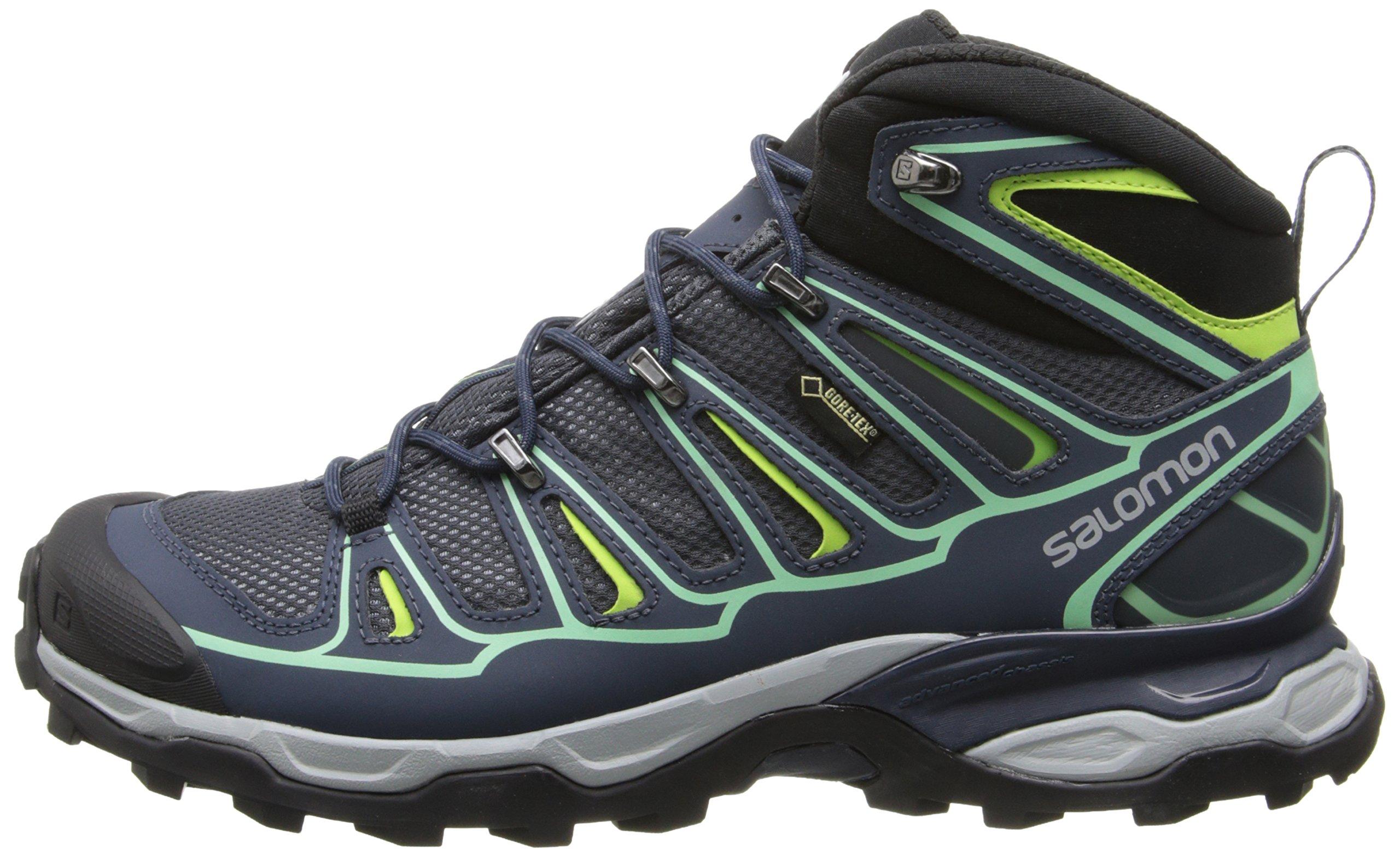Salomon Women's X Ultra Mid 2 GTX Hiking Shoe, Grey Denim/Deep Blue/Lucite Green, 9 M US by Salomon (Image #5)