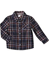 Egg by Susan Lazar Baby Boys' Plaid/Check Button Down (Baby) - Navy