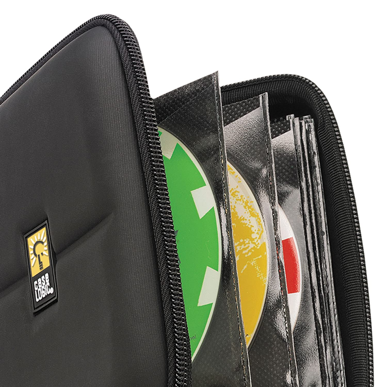Black Case Logic CDE-24 24 Capacity Heavy Duty CD Wallet