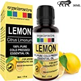 Organix Mantra Lemon Essential Oil Steam Distilled- 100% Pure, Natural, Therapeutic Grade Essential Oils