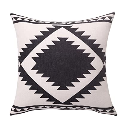 a77cbd8738a Image Unavailable. Image not available for. Color  BreezyLife Aztec Throw  Pillow Covers Black ...