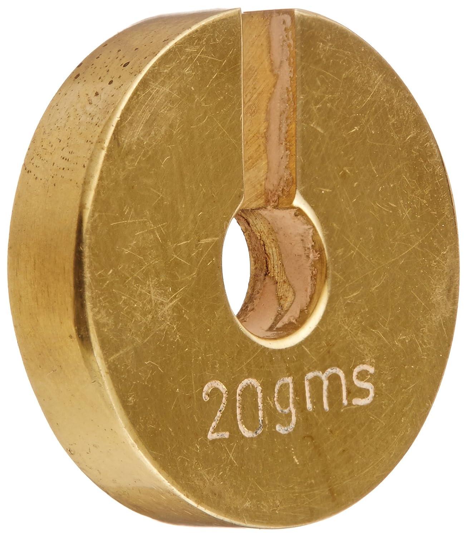 2 g Ajax Scientific ME450-0002 Brass Slotted Weight