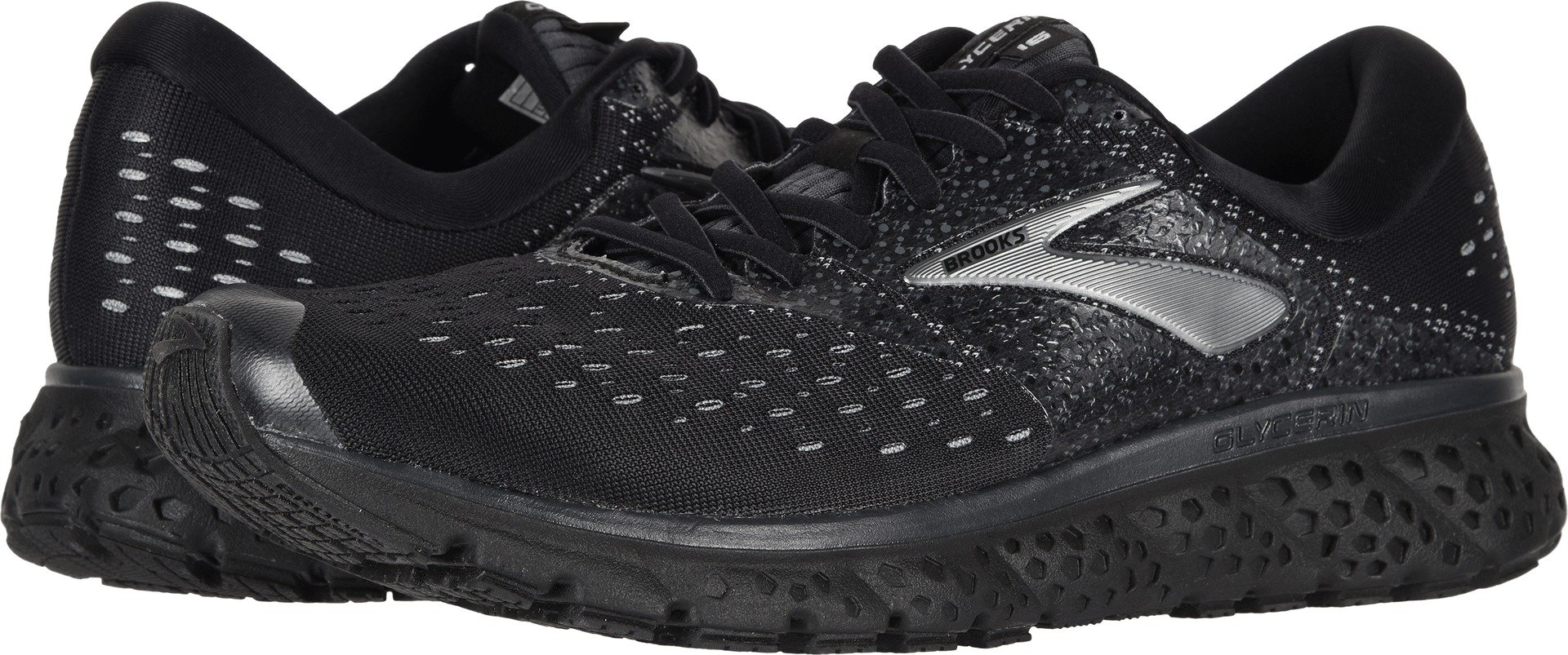 6bd327942c3 Galleon - Brooks Men s Glycerin 16 Black Ebony 11.5 EE US