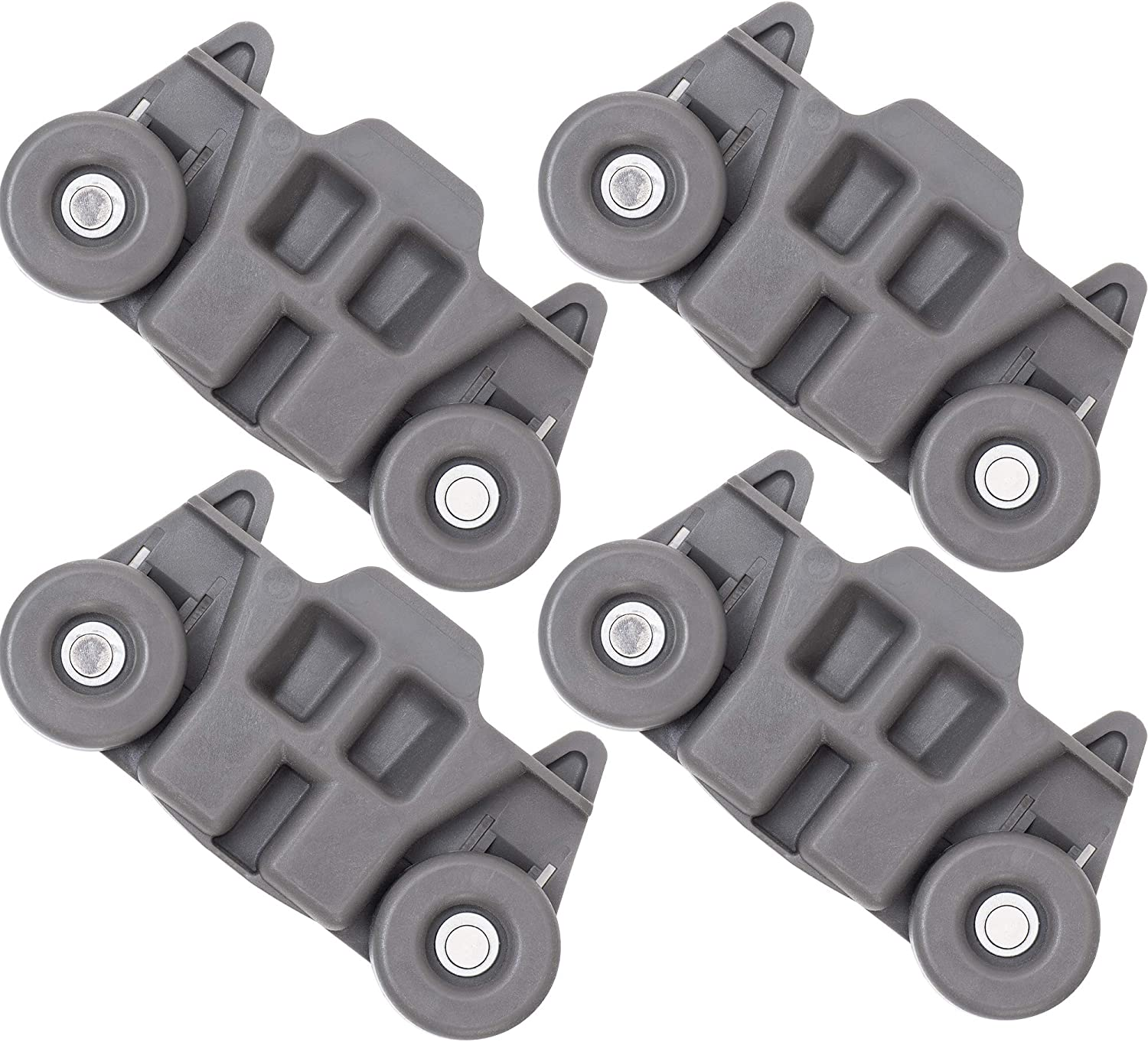 W10195416V W10195416 Dishwasher Wheels Lower Dish Rack Wheel with Steel Screws by AMI W10195416V Perfect Replacement for Whirlpool /& Kenmore Dishwasher Replaces W10195416VP 4PCS