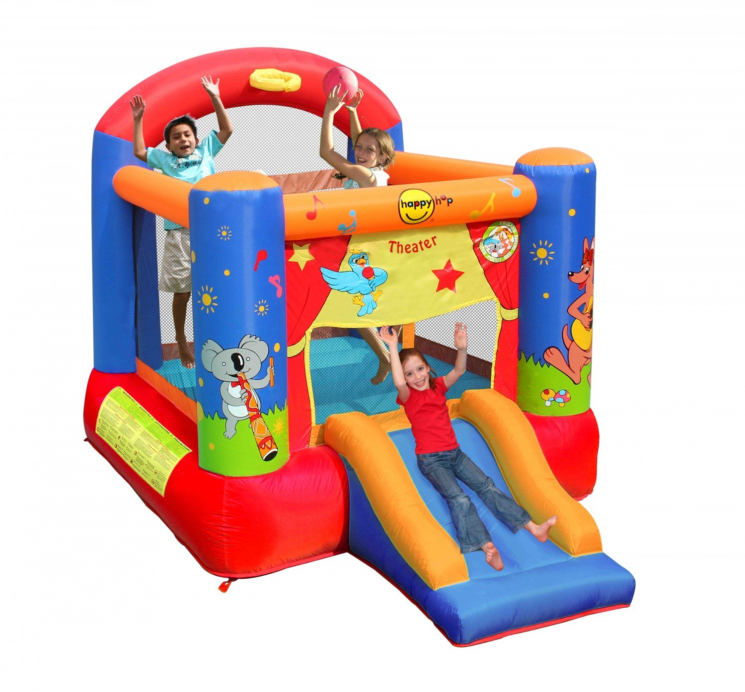 Happy Hop- Theater Slide and Hoop Bouncer, (9304T): Amazon.es ...