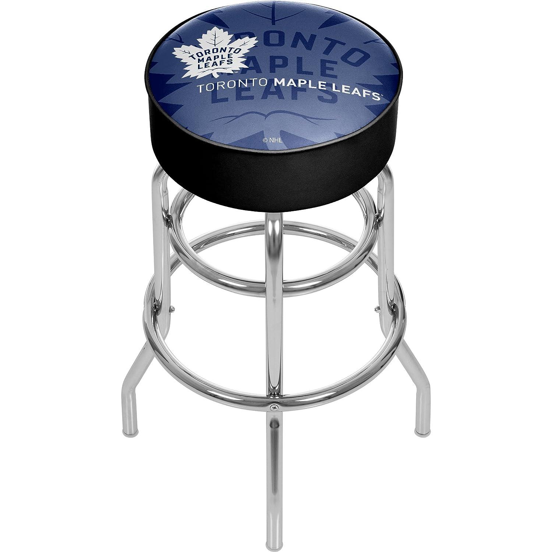 商標Gameroom nhl1000-tml-wm NHLクロムバースツールwith Swivel – 透かし – Toronto Maple leafsa   B0743SVWDS
