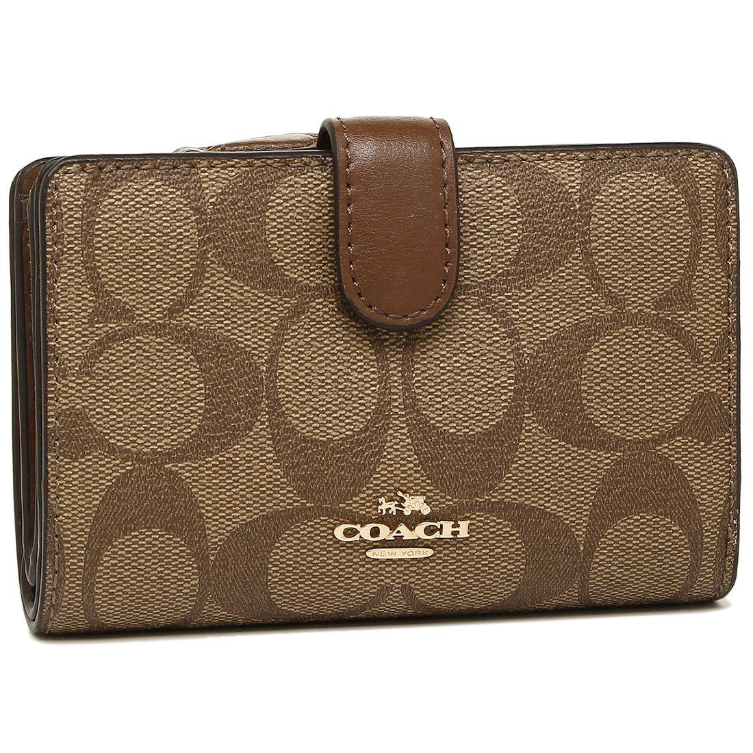 [コーチ] COACH 財布 (二つ折り財布) F23553 シグネチャー 二つ折り財布 レディース [アウトレット品] [並行輸入品] B077G8BV8K カーキ/プラチナ カーキ/プラチナ