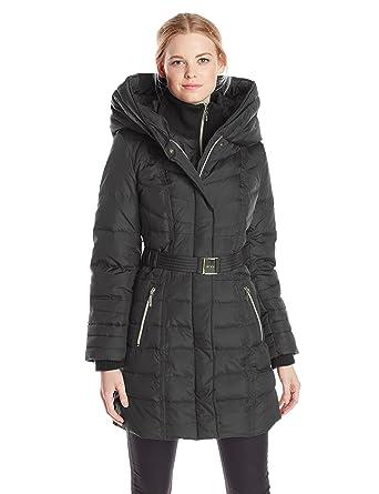 Kensie Women's Long Down Coat with Hood at Amazon Women's Coats Shop