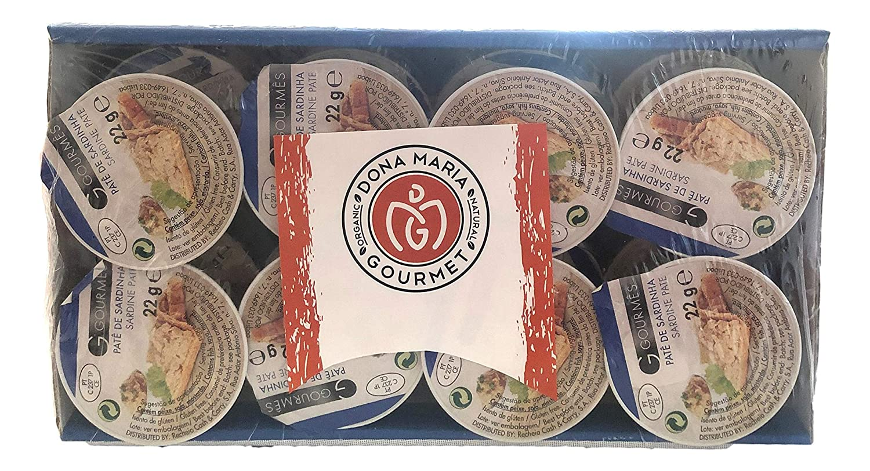 Sardine Paté | 24 tins | 18 ounces | Sardine paté Portugal , Pate to spread or dip, Pate Spread for Humans, Seafood Tapas, Ideal for appetizers | Glute-free | Omega 3 | Sardine Paste