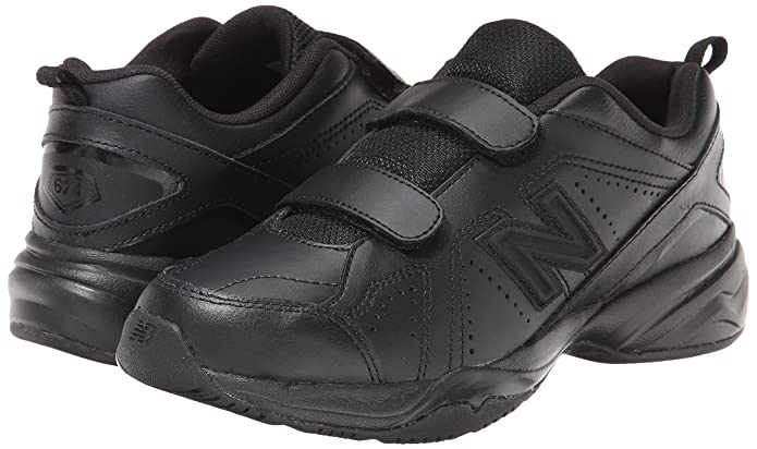 New Balance KV624 Hook and Loop Training Shoe (Little Kid/Big Kid), Black, 36 M EU