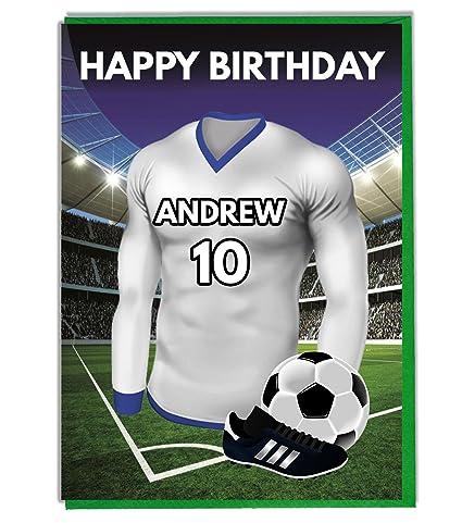 Diseño de cumpleaños con texto en inglés de camiseta de fútbol Tottenham Tarjeta de felicitación y