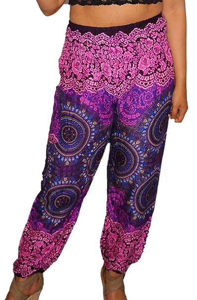 Amazon.com: IshDeena - Pantalones de yoga sueltos para mujer ...