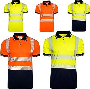 INDX-Clothing Polo de Alta Visibilidad segmentada con Cinta ...