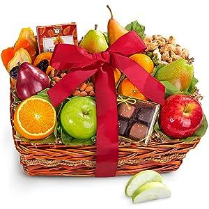 Golden State Fruit Orchard Delight Fruit and Gourmet Basket Gift