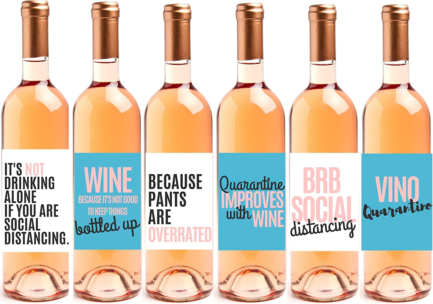 5 x Easter Quotes  Wine Bottle decals Sticker
