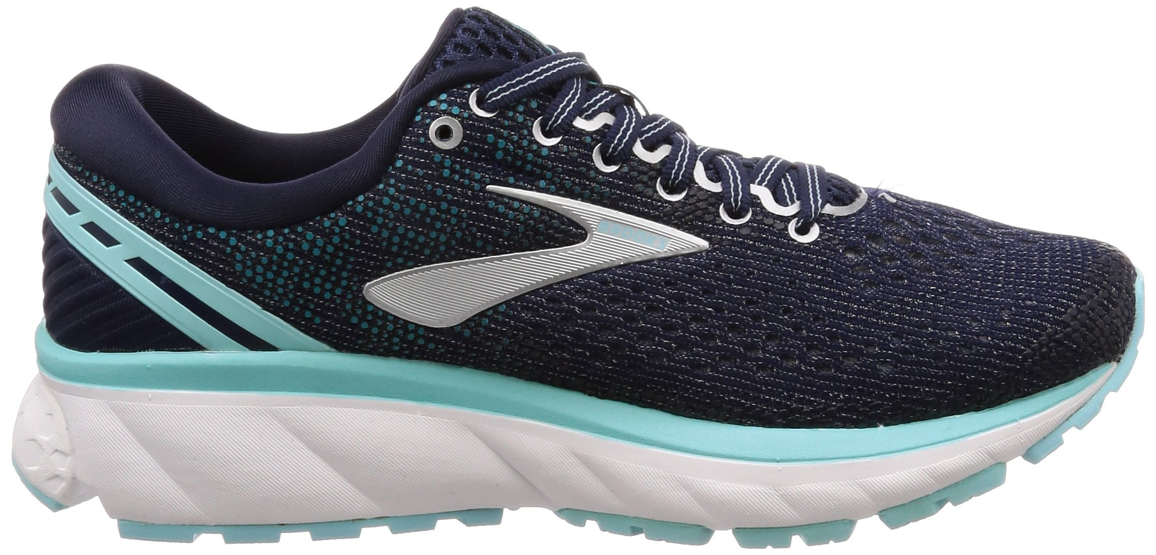 Brooks Womens Ghost 11 Running Shoe - Navy/Grey/Blue - D - 5.5 by Brooks (Image #6)