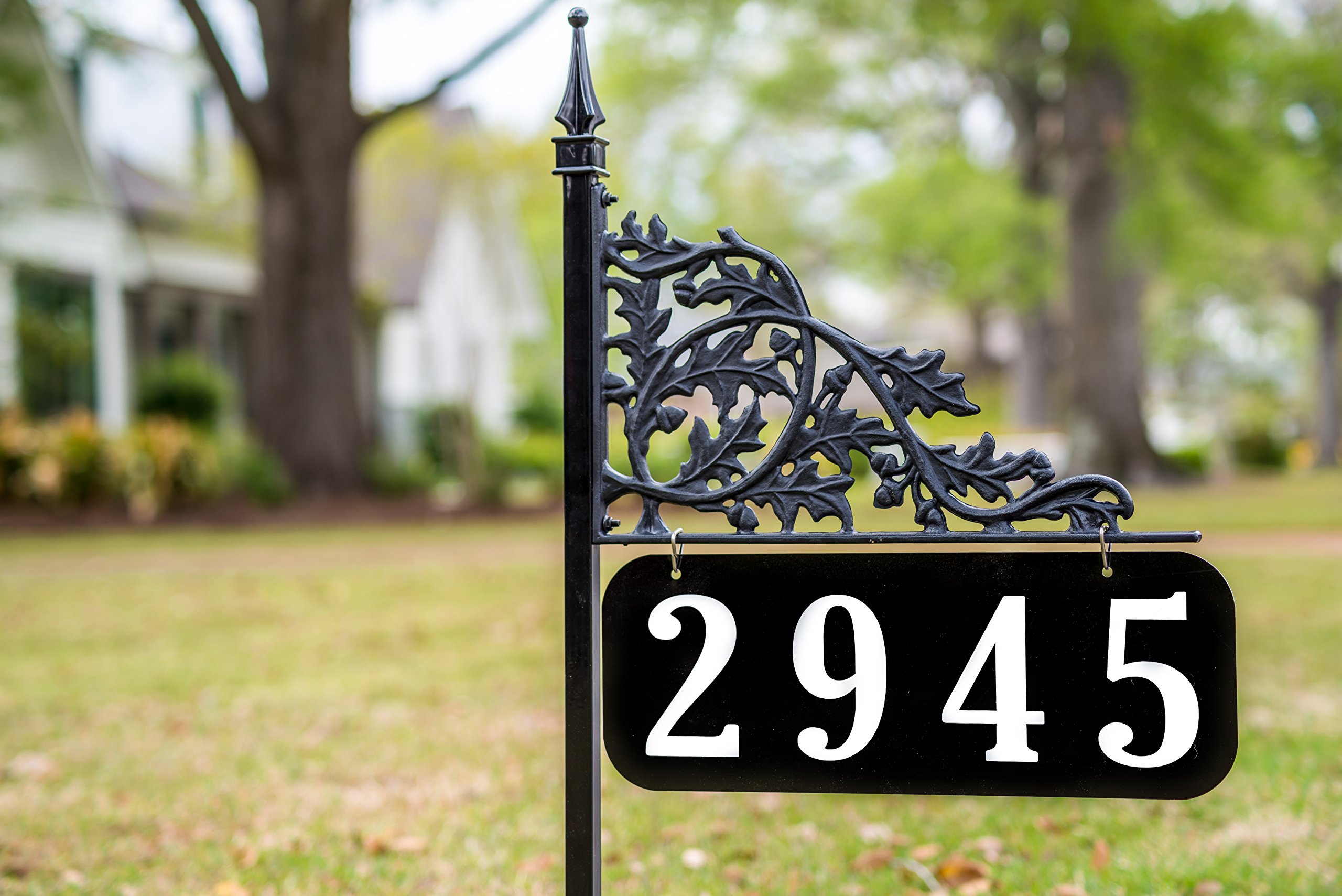 Oak 30 Inch Reflective Address Sign - Double Sided - Easy to Read Day and Night 98% Positive Reviews on Amazon by Address America