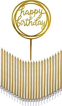 Amazon.com: Dream VZN - Velas de cumpleaños de 24 hilos ...