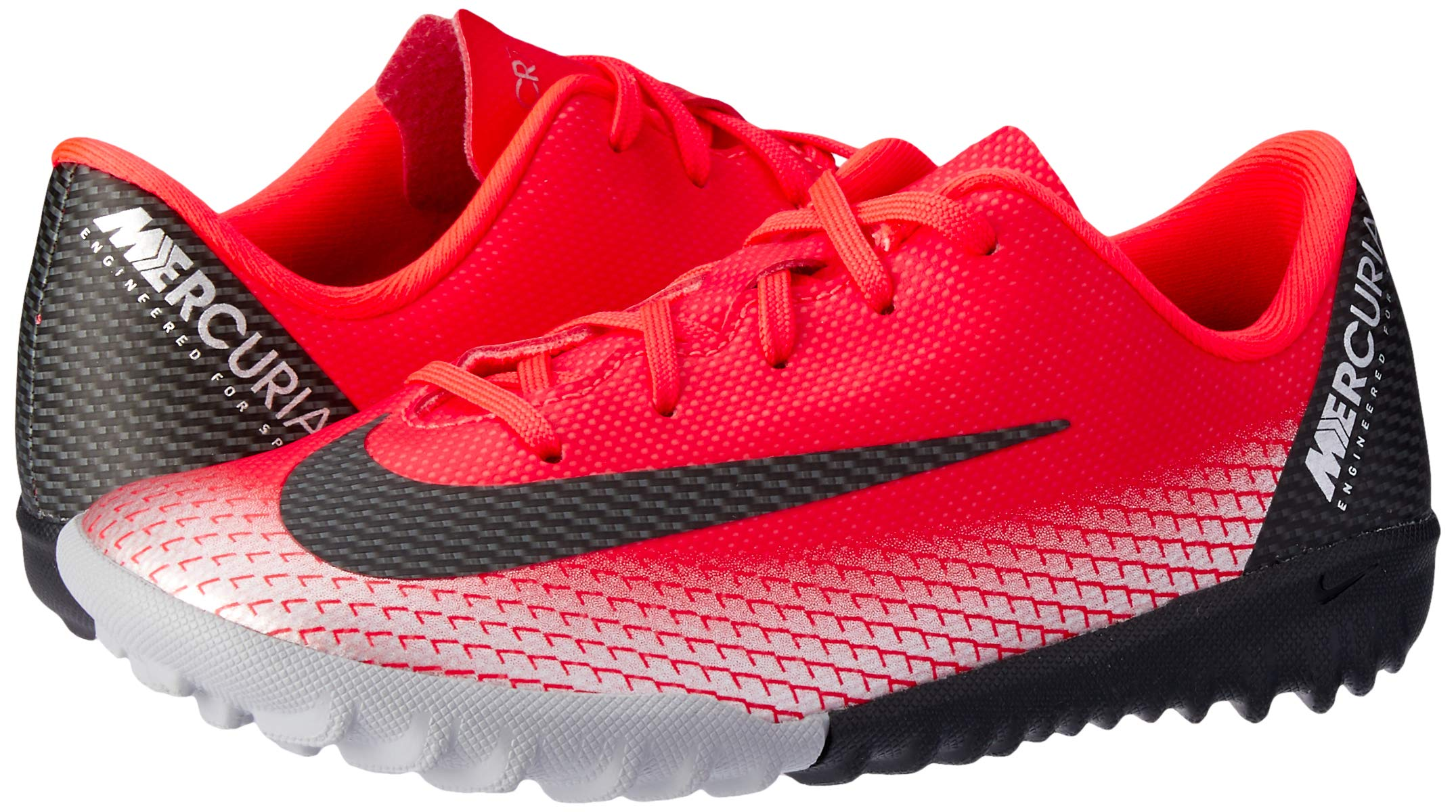 Nike Youth Soccer Jr Mercurial Vapor 12 Academy CR7 Turf Shoes (1 M US Little Kid)