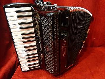 Nueva beltuna Piano acordeón Studio III negro LMM 34/72 ...